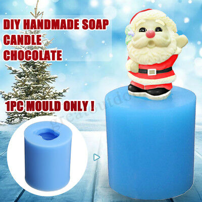 DIY 3D Christmas Santa Mould Handmade Candle Soap Silicone Resin Mold Tool
