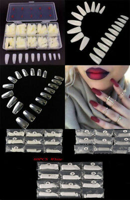 100/600pcs/lot  Long Ballerina Coffin Shape Full Cover False Fake Nails Art Tip
