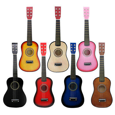 Exquisite Solid Wood 6-String 21inch Acoustic Guitar Set Beginners Practice