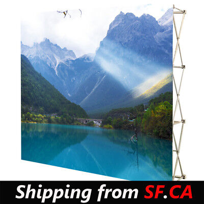 8x12,Velrco Tension Fabric Backdrop Booth Frame Straight Pop Up Display Stand3x5