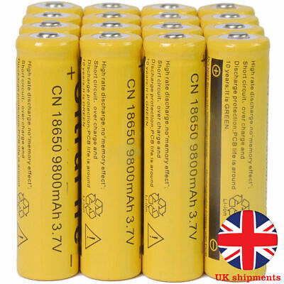 4/8/16x 3.7V 18650 9800mAh Li-ion Rechargeable Battery Batteries for Flashlights