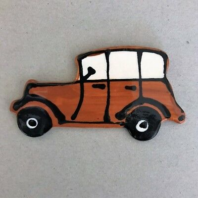 CERAMIC CAR - Classic/Vintage - Brown ~ Mosaic Inserts, Art, Craft Supplies