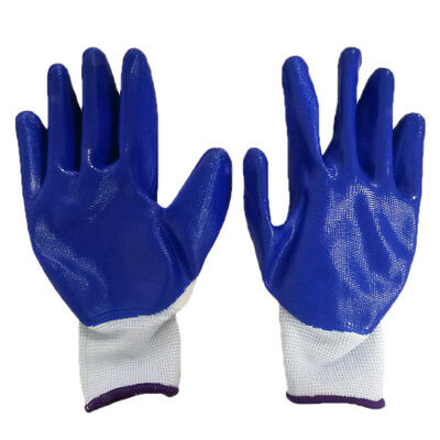 NITRILE GLOVES General Purpose Work Glove Safety Nitrile Rubber Coated New