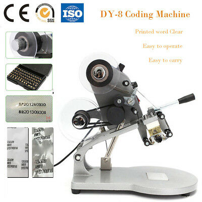 DY-8 Manual Coding Date Batch Character Hot Stamping Coding Machine 3 Lines