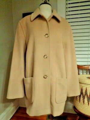 9e1f8703c45 CINZIA ROCCA 100% pure virgin wool camel coat women s USA 14 made in Italy