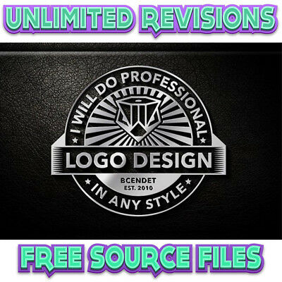 Professional Custom Logo Design For Business + Unlimited Revision | Free Vector