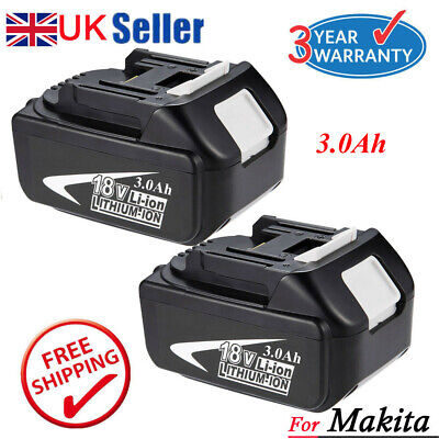 2 X New 5.0Ah 18V Lithium Ion Battery For Makita BL1860 BL1840 BL1830 BL1815 LXT