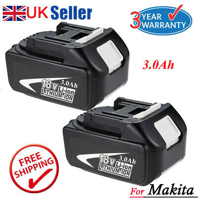 2 X New 6.0Ah 18V Lithium Ion Battery For Makita BL1860 BL1840 BL1830 BL1815 LXT