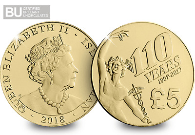 2018 Isle of Man TT 110th Anniversary £5 Coin Re-issued Re-Dated  [Ref 920H]