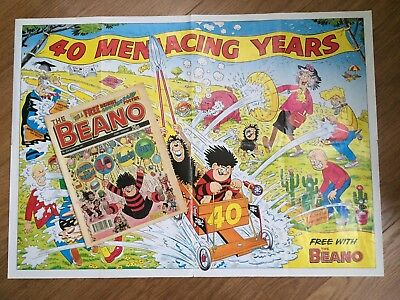 Denis the Menace 40th Birthday Special with Poster. No 2539. Classic Beano.