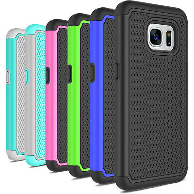 For Samsung Galaxy S7/S7 Edge Case Hybrid Shockproof PC Silicone Hard Case Cover