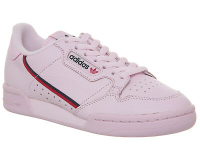 Adidas Continental 80S Trainers Clear Pink Scarlet Collegiate Navy Trainers Shoe