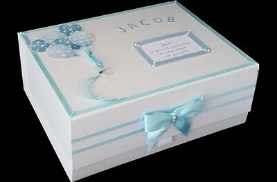 Baby Boy 1st Birthday Christening Gift Keepsake Memory Box Large Personalised Uk Ideas