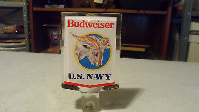 Rare Budweiser Navy Lucite Beer Tap Handle