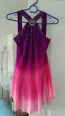 Pink And Purple Sparkly Ice Skating Dress Size Medium
