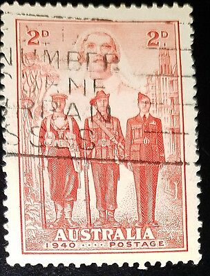1940 Australian Imperial Forces 2d Red