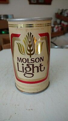 Molson Light S/S pull tab beer can  Canada