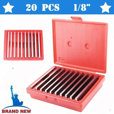 """Thin 1/8"""" Steel Parallel Set 10Pair Ultra PRECISION 0.0002"""" Milling Machinist AU"""