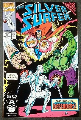 Silver Surfer #58 Marvel Comcis Defenders HULK Namor