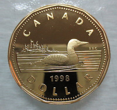 1998 Canada Loonie Proof One Dollar Heavy Cameo Coin
