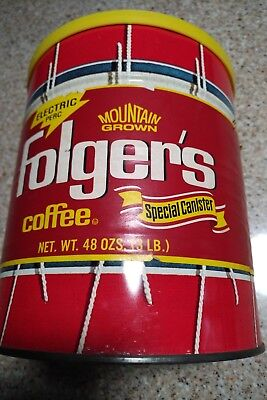 Vintage Folgers Coffee Can Special Canister 3LB