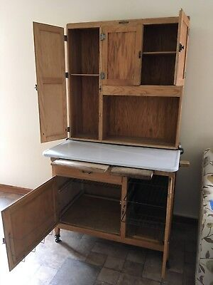 Antique Oak Hoosier Cabinet Napanee Dutch Kitchenet