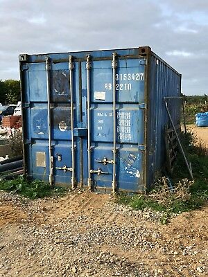 20ft shipping container, blue 20'x8'