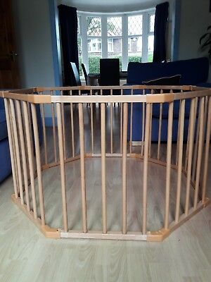 Wooden baby playpen- very good condition