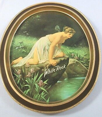 Vintage White Rock Psyche at Nature's Mirror Tin Tip Tray Fabcraft USA Replica