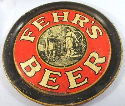 Antique Fehrs Beer Tray Pre Prohibition Lithograph Louisville KY 1920s
