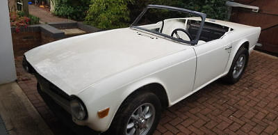 Triumph TR6 project LHD rolling chassis and bodyshell