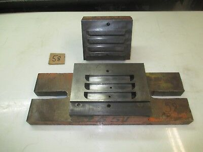 """#58 - 3/4 x 5"""" - 3 louver die set, 2"""" shank, 13"""" hole space, 6"""" x 17"""" bed area"""