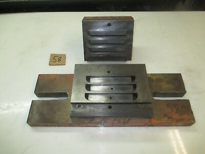 """#58 - 3/4th x 5"""" - 3 louver die set, 2"""" shank, 13"""" hole space, 6"""" x 17"""" bed area"""