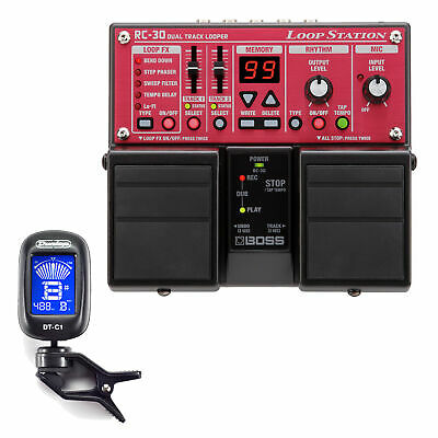 BOSS RC-30 Loop Pedal Station with Dunlop DTC1 Tuner