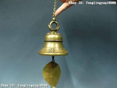 """6"""" Chinese Superb infrequent Bronze Copper foliage bell horometer"""