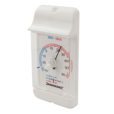 Min/Max Dial Thermometer -30° +60°C Home Room Office Garage Garden Temperature