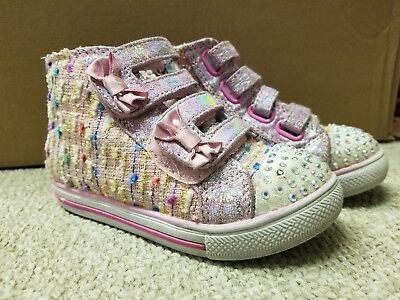 Skechers Twinkle Toes Chit Chat Lil Primpers Toddler Girls Light-Up Sneakers...
