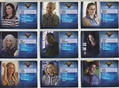 Supergirl Season 1 Complete Character Chase Card Set CB1-9