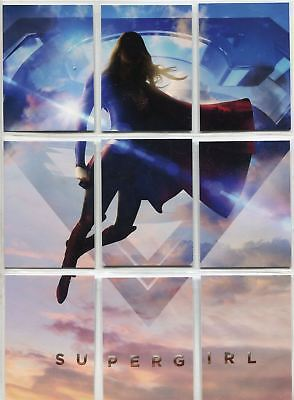 Supergirl Season 1 Complete Key Art Puzzle Chase Card Set Z1-9