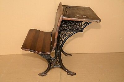 ANTIQUE 1891 CAST IRON SCHOOL DESK #5 by AMERICAN SCHOOL FURNITURE CO BUFFALO NY