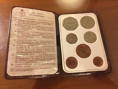The 1983  Isle Of Man Decimal Uncirculated Coin Set