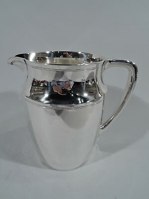 Tiffany Water Pitcher - 18310F - Art Deco Modern - American Sterling Silver