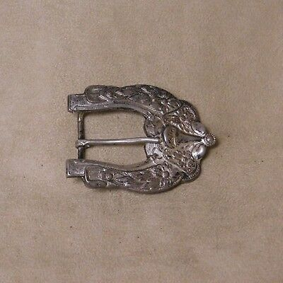 Sterling Silver Saddle Buckle by M L Wise  Hollywood California