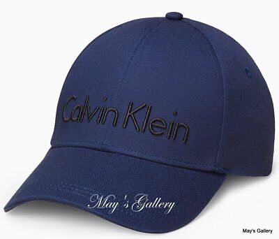 258a4e66cd6 CK Calvin Klein BaseBall Cap Ball Hat Military NWT One Size C.K. navy