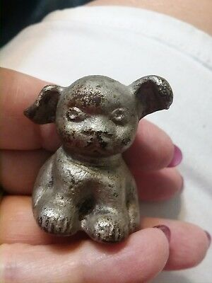 Vintage Antique 1920s Cast Iron Fido Pup Dog Mini Paperweight Hubley ADVERTISING