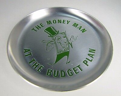 The MONEY MAN At The BUDGET PLAN Advertising Tray General Finance Service c1959