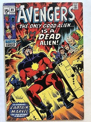 Avengers (1963) #89 VG/FN Captain Marvel cover Kree- NO RESERVE!!! Buscema Art