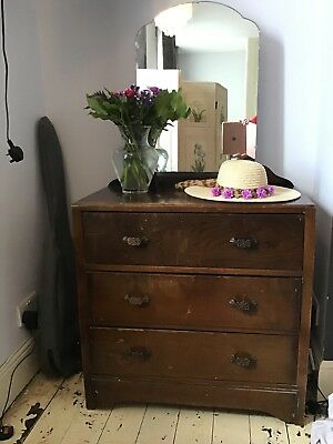 Vintage dressing table With Draws And Mirror