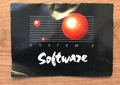 System 3 Software Promotional Leaflet C64 Commodore 64