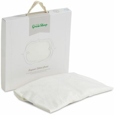 The Little Green Sheep ORGANIC JERSEY FITTED SHEET COT/CRIB/MOSES BASKET BN